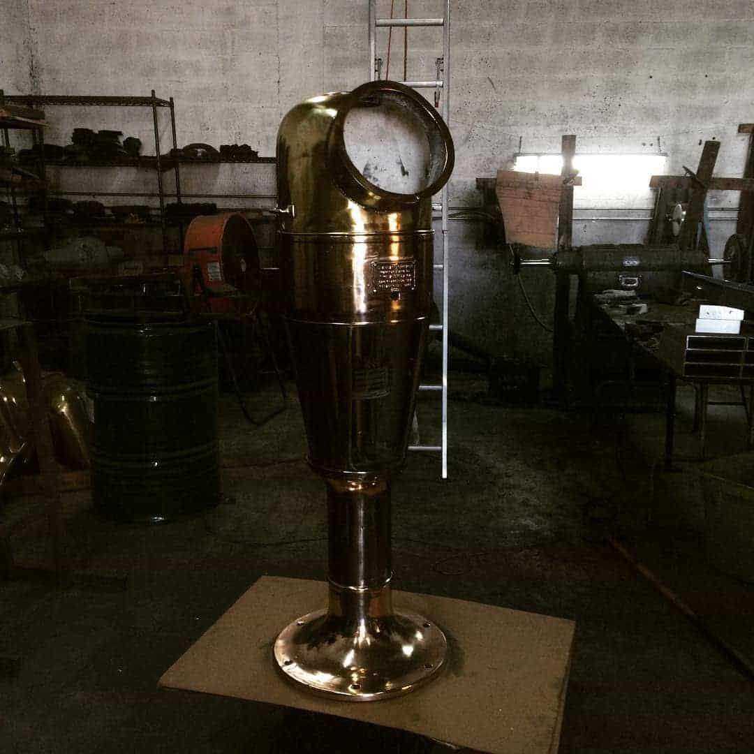 Brass binnacle restoration.